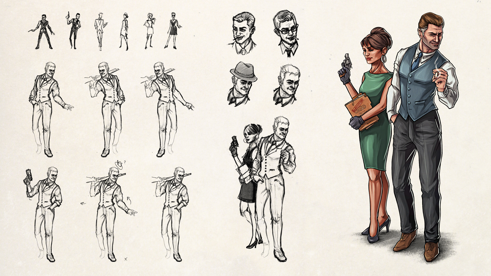 Agents of Concordia RPG – Character Design and Illustrations.