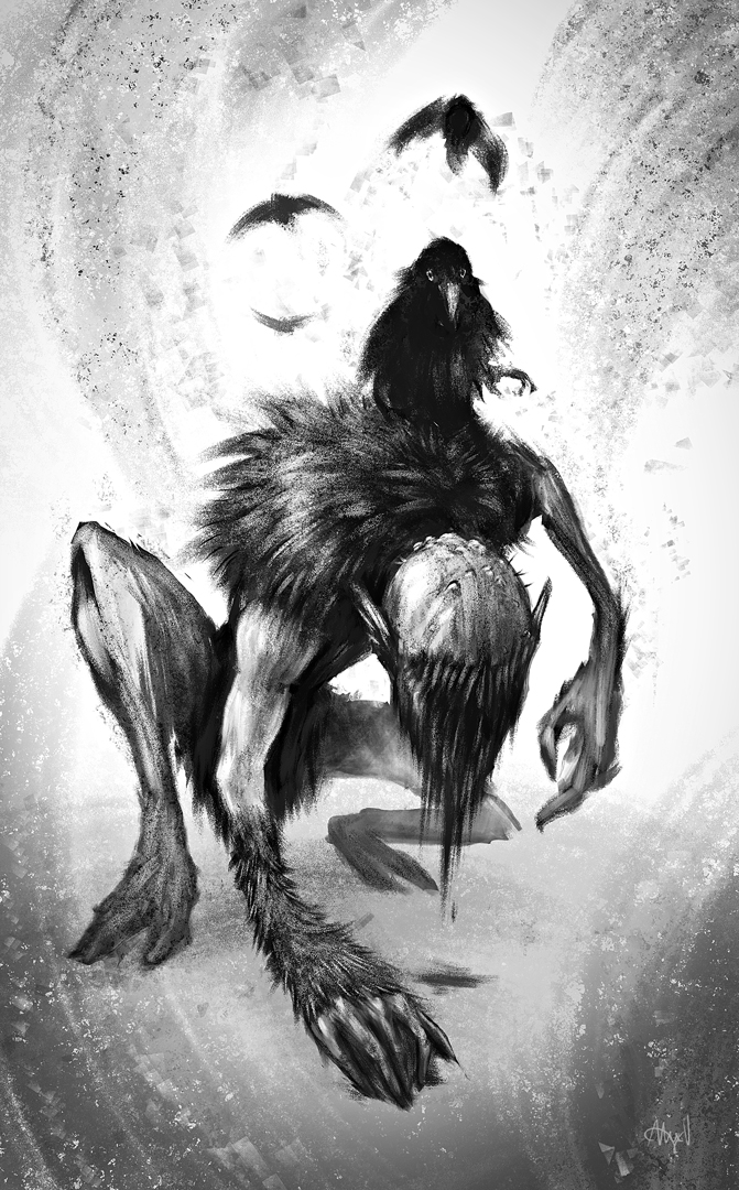 Creature concept art for Strangewood Studios